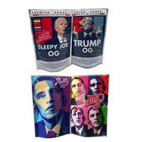 Obama Runtz3.5g Trump OG Sleepy Joe Biden Borsa da imballaggio con cerniera Stand Up Pouch 420 Asciugamani Herb Flower Imballaggio in plastica Borse da imballaggio in plastica