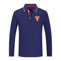 2021 Torino FC New Long Sleeve Lapel Sports Polo Shirt Cotton Pure Color Casual Men's Polo Shirt High Quality Golf Series Jersey