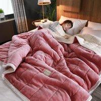 Decken Super warme Decke Luxus dick für Betten Fleece und wirft Winter Erwachsene Bettbezug Home Weiche Twin Bettwäsche