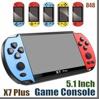 848D 8GB x7 플러스 핸드 헬드 게임 플레이어 5.1 인치 PSP 화면 휴대용 게임 콘솔 MP4 플레이어 카메라 TV 출력 TF 비디오 GBA NES 게임