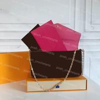 La frizione del designer per le donne di Hangbag Borses Designer Pochette Felicie viene fornito con la scatola 3 in una frizione del vano grande per la borsa delle donne