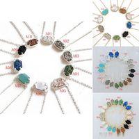 Vendita calda Druzy collane ciondolare orecchini set per le donne geometriche naturali drusy pietra pendente pendente catene di fascino femminile moda gioielli