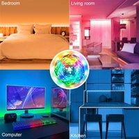 도매 12v 10m 듀얼 디스크 SMD 2835 램프 비즈 300 램프 - RGB-IR44 비 방수 및 비 접착제 24 키 라이트 스트립 세트 40W