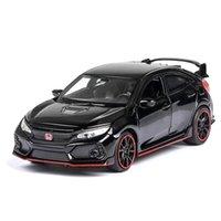1/32 lega honda tipo civico r honda modello giocattolo giocattolo automobili pressofuso metallo tira indietro luce suono funzione auto raccolta auto collezione giocattoli veicolo Y200109