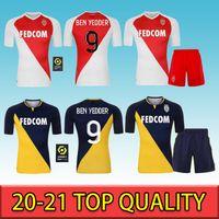 20 21 Top Qualität Monaco Ben Yedder Soccer Jerseys Jovetic Golovin MAILLT de Foot Flocage Jorge Männer Fans Version Football Hemd