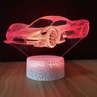 Dreidimensionale Licht 3D Nachtlicht Bunte Nachtlicht LED Touch Fernbedienung 3D Dreidimensionale Leuchtständer der dreidimensionalen Leuchtständer ABS-Sockel
