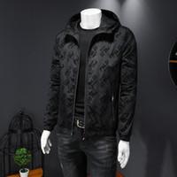 가을 2020 새로운 패션 트렌디 한 남자 편지 만화 인쇄 남성 재킷 청소년 슬림 후드 한국 자켓