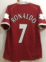 레트로 클래식 2006 2007 축구 유저 맨체스터 heinze Evra Carrick Werown Rioferdinand Giggs Ronaldo Rooney Vidic 06/07 축구 셔츠