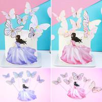 Torta di cottura decorare viola bellezza farfalla a forma di doratura a forma di doratura in unità sera festa decorazione di nozze Nuovo arrivo 0 88BD J2