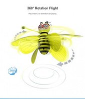 Mini abelha drone ufo controle remoto brinquedos rc animal brinquedos de aeronaves kid saxship rc helicóptero voar bola brinquedo para presente de aniversário