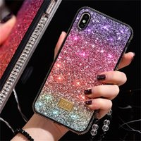 Rainbow Pattern Bling Rhinestone Diamond Diamond Cover Caso di protezione del cellulare per iPhone XSMAX XR XS 8 7 Plus Bling Cases