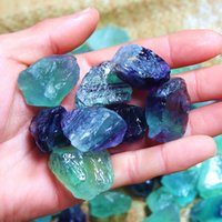 Sri Lanka Fluorite Natuurlijke Healing Kristallen Stenen Kleur Onregelmatige Ruwe Sieraden Kleine Ornamenten Accessoire Womens Groen Nieuw 2AJ M2