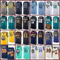 Stephen 30 Curry James 33 Wiseman JA 12 Morant Golden New Stateالمحاربونجيرسي ممفيسغريزليسجيرسي كرة السلة الجديدة