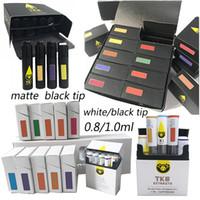 TKO Extracts Vape Cartridges Packaging Atomizers Empty 0.8ml 1ml Ceramic Carts Dab Pen Vaporizer 510 Thick Oil Vapes Pens E cigarette