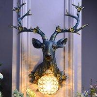 Wall Lamps Vintage Led Lamp Modern Resin Antlers Living Room Decoration Bedroom Bedside Deer Home Decor Lighting