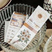 Cadeau cadeau 1pcs Vintage Flower Scrapbooking DIY Stickers Pack Décoratif Rétro Collection Naturel Collection Naturel Journal Journal Lave-papier Autocollant pour art