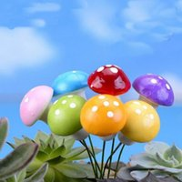 Newgardenの装飾7色2cm 3cmの妖精の泡マッシュルームのカラフルなミニチュア装飾人工植物マイクロランドシャフトEWE5936