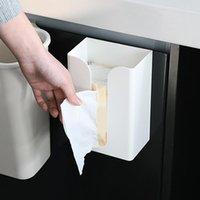 Tissue Boxes & Napkins Kitchen Paper Storage Box Paste Wall-mounted Towel Holder Multifunction Creative Toilet