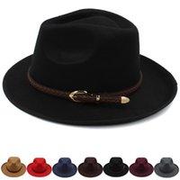 Wide Brim Hats Men Women Panama Classical Retro Sunhats Fedora Caps Trilby Jazz Outdoor Travel Party Street Style Size US 7 1 4 UK L