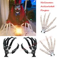 Halloween Articulated Fingers Toys Ghost Party Decoration Finger Gloveswith Flexible Joint Dress Cosplay Costume Props