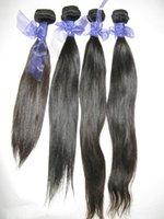 Raw filipino virgin straight human hairs 4pcs lot thick wefts asian donors silky smooth texture