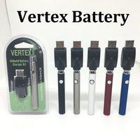 V-VAPE LO سخن VV عدة نفطة البطارية 650mAh الجهد المتغير التسخين البطارية مع شاحن USB ل 510 الشمع بخار النفط خرطوشة بخار