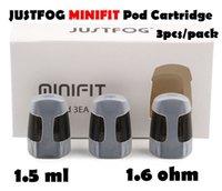 2021 Atomizer JustFog Minifit POD Cartucho 1.5ml Mini Fit Pods com 1,6OHM Bobina para Compacado Kit e Cigarro 3 Pçs / Pack DHL GRÁTIS