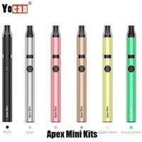 Authentic Yocan Apex Mini Starter Kit 380mAh Tensione regolabile al quarzo al quarzo Dual Coil Concentrato Atomizzatore Atomizzatore cera vaporizzatore di penna vaporizzatore