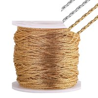 Pendant Necklaces 5 Meter lot 0.6mm 0.8mm 1mm 1.2mm Stainless Steel Tiny Gold Cable Chains For Diy Jewelry Making Wholesale Bulk Chain