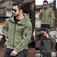 Men's Jackets Outdoor Warm Liner Fleece Jacket Cold Hoodie Solid Hooded