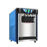 Dondurma makinesi ticari otomatik 2000W üç renkli masaüstü 18-22L / H