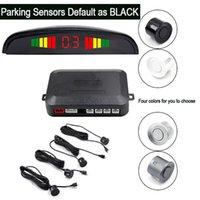 Car Rear View Cameras& Parking Sensors 12V Sensor Backup Reverse Radar Alarm System Kit Digital Display With 4