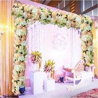 Decorative Flowers & Wreaths 20x 50CM Upscale Wedding Road Cited Flower Row Rose Hydrangea Mix DIY Arch Door Garland Arrangement Party T Sta
