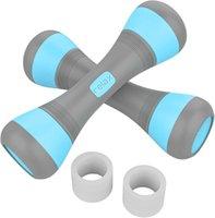 Dumbbells à la main réglable Poids -1 Set (2 PCS) Matériel de remise en forme en caoutchouc portable pour l'exercice à la maison Gym