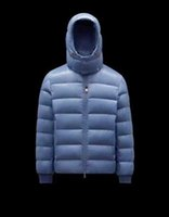 Top High Quality Designers Monclair CUVELLIER Mens Down Jackets Parkas Winter Bomber Hooded Man Luxury Goose Warm Light Blue Black Outerwear