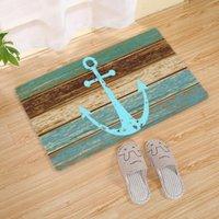 Carpets Nautical Anchor 3D Print Rug Doormat Bath Mat Anti-slip Rugs Vintage Bathroom Floor Kitchen Carpet Home Textile