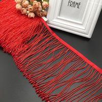 Nastro 10yards Crystal Pendant Beaded Fringe Pizzo Trim Trim Tassel Fai da te Vestito Latino Abbigliamento Abbigliamento Home Tenda Per Nozze Accessori decorativi