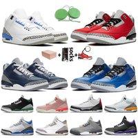 Nike Air Retro Jordan 3 3s stock x retro 3 ile Kutu Jumpman Erkek Basketbol Ayakkabı SatenÜrdünRetro UNC Fragment Kırmızı Varsity Kraliyet Erkek Eğitmenler ayakkabılar
