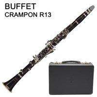 Clarinet Buffet Crampon R13 Ebony BB Clarinete 18 Tasti | BC1131L-2-0) | Chiave del nichel placcato argento clarinete 100% nuovo spedizione gratuita