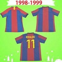 Barcelona jersey barca 1998 1999 ريترو جيرسي لكرة القدم قميص كوكو انريكي خمر الكلاسيكية لكرة القدم 98 99 فيغو ريفالدو كلويفرت Camiseta دي فوتبول