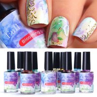 12 stücke polnisch gel lack tinte flüssigkeit fleck blühen blühen steigung aquarell blase marmor nail art tool manicure sa895-1