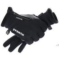 Men Winter Riding Gloves Plus Velvet Thicked Warm Touch Screen Gloves Outdoor Ski Motorcycle Waterproof Non-slip Unisex Gloves NHD10532