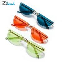 Óculos de sol Zilaad Lente Colorido Semicírculo Sol Óculos UV400 Sombra Fahsion Confortável para Mulheres Unisex