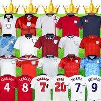 The patch 1998 1986 2002 KEEGAN Mens Retro Soccer Jerseys BECKHAM SCHOLES SHEARER SHERINGHAM GASCOIGNE Home Away 3rd Football Shirt Short Sleeve Uniforms