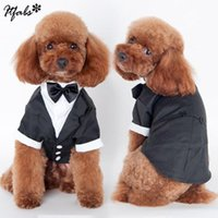 Dog Apparel Handsome Fashion Solid Cute Pet Cat Clothing Prince Wedding Suit Tuxedo Bow Tie Puppy Clothes Coat