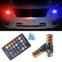 2 шт. T10 W5W RGB светодиодные лампы 12smd COB CANBUS 194 168 автомобиль с дистанционным контроллером Flash / Strobe Child клин освещает освещение