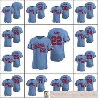 2020 nuevos hombres de béisbol # 22 Miguel Sano 26 Max Kepler 17 Jose Berrios 25 Byron Buxton Custom Mujeres Juveniles Jersey Jersey