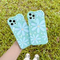 Iphone 12 Pro Phone Cases Love Lens Blue Daisy For 11 Max XS 7 8Plus PC TPU Screen Back Cover Protective Case