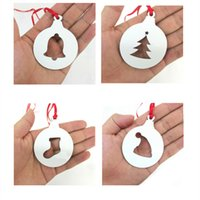 Sublimation MDF Christmas Decor hollow-out Pendants blank white DIY creative gift style ornament accessories heat transfer printing wholesale A13