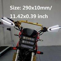 Handlebars 2PCS Motorcycle Handlebar Brush Bar Handguards Wind Guard With LED Indicators Lights Universal Fit For Motocross Dirt Bike
